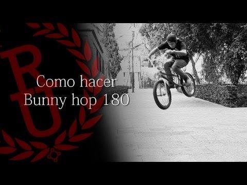 Como hacer 180 bunny hop BMX (How to 180 bunny hop BMX)