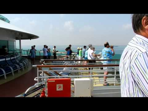 Cruising through Suez Canal, Egypt on Royal Caribbeans' Brilliance of the Seas in April 2011. Cruise departed Dubai and travelled to Fujairah, Abu Dhabi, Mus...