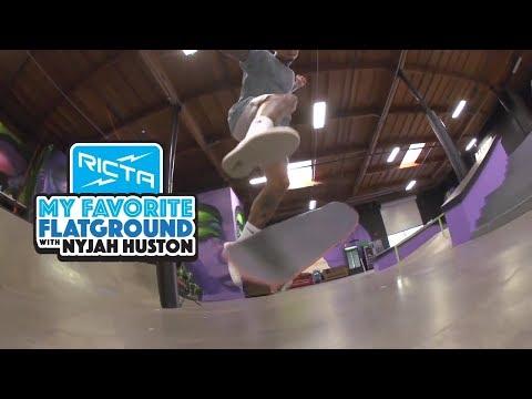 Nyjah Huston's Favorite Flatground Trick | 360 Flip
