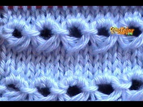 Como Tejer Punto Peruano Tradicional-Broomstick Loop Stitch 2 Agujas (120)