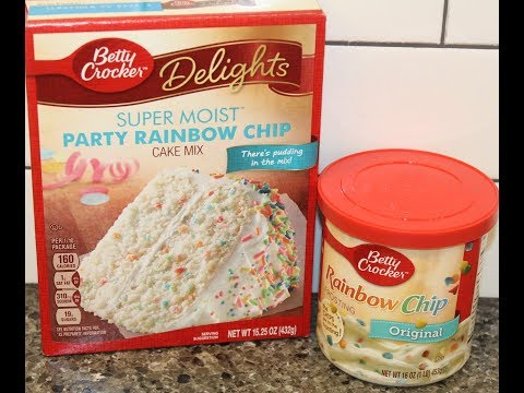 Betty Crocker Party Rainbow Chip Cake Mix & Frosting – Preparation & Review