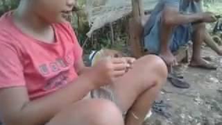 gadis  cantik mancing ikan mas di kolam dapat.......