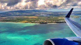 Stunning Landing in Honolulu Hawaii Diamond Head Waikiki United Airlines Boeing 777