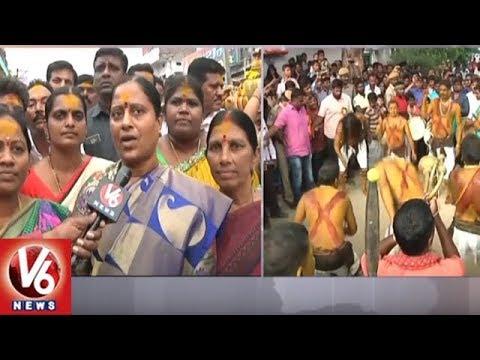 MLA Konda Surekha Offers Bonam To Beeranna Swamy | Warangal | V6 News