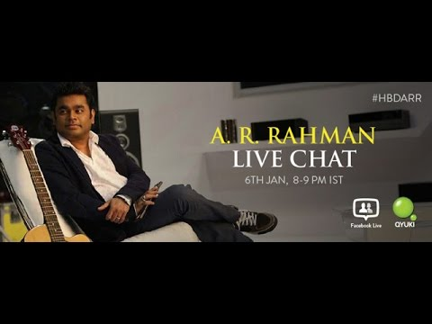 Live Chat with A  R  Rahman On His Birthday 06 Jan 2015