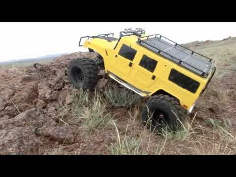 Download HPI Savage Xl 1/5 scale Hummer WIth RC4WD 4:1 R2 Tranny Mp4 baru
