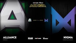 Alliance vs Nigma Game 1 - SL ImbaTV D2 Minor S3 EU Qualifier: GRAND FINALS