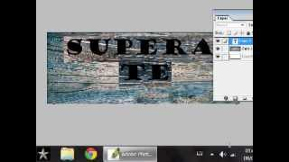 TEXTO QUEMADO EN MADERA - tutoriales photoshop
