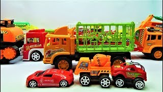 How to assemble the super zoo truck toys, truck toys and car toys for kids
