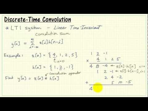 Discrete-time convolution sum and example