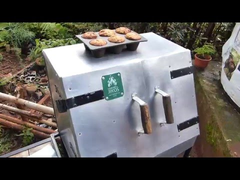 Baking banana bread in Nairobi on a Cookswell Charcoal Oven