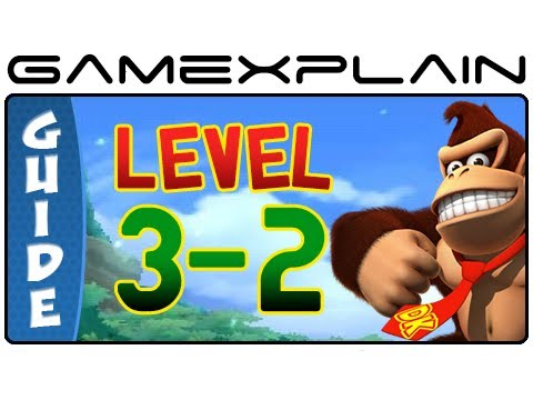 Donkey Kong Country Returns 3D: Button Bash 3-2 (Puzzle Pieces, KONG Letters Guide, Walkthrough)