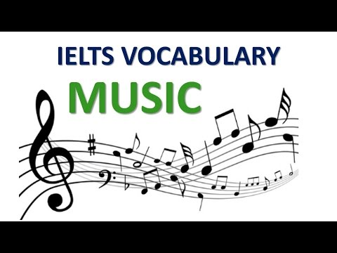 VOCABULARY FOR IELTS EXAM Topic Music
