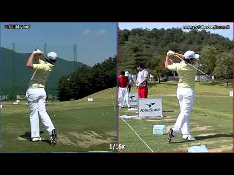 [300FPS SLOW] Rory McIlroy - Iron swing, Front and Rear Dual View (11)