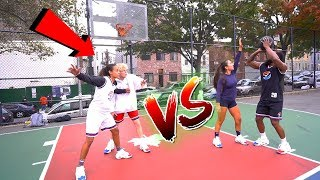 Cash vs TJass & Female Hoopers In The Hood! 2vs2 Basketball