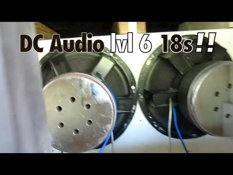 Justins 2 Level 6 18s on 10.000watts in a NASTY 6th Order! - DC Audio - Nasty LOWSSS