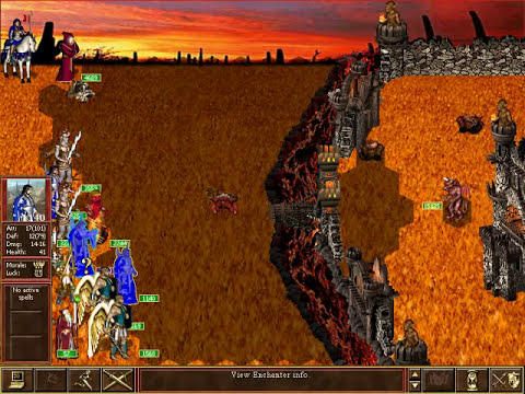 Heroes of Might & Magic III - In The Wake of Gods: Several million Demon kind defending their town