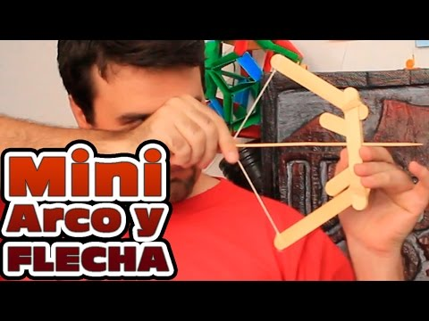 Como hacer un mini Arco y flecha con palitos de helado