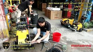 Máy rửa xe áp lực cao V-JET 150/3.0 [2200 psi - 3kw - 1pha 220V]