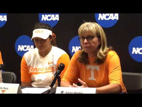 Post-game comments on Tennessee's loss to Arizona in softball regional