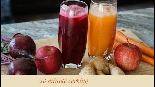 Healthy Carrot Juice and Beetroot Juice with blender | Detox juice | Diet recipe|10 minute cooking