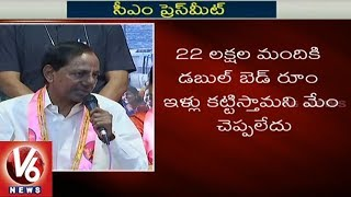 CM KCR Speaks On Double Bedroom Houses To Journalists Of Telangana
