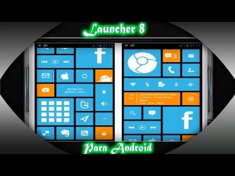Personalización Android con Launcher 8 (Gratis/Review)