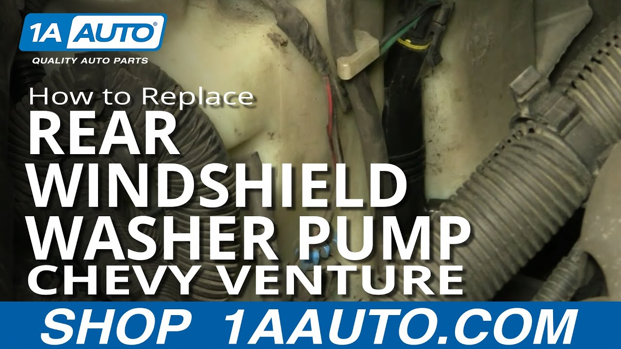 How To Install Replace Rear Windshield Washer Pump Venture