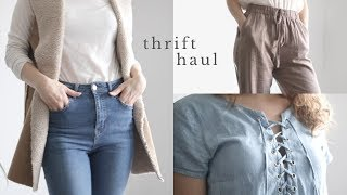 Thrifted Fall Clothing Haul | Affordable + Sustainable