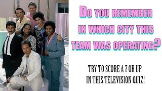 Do you remember this team? - Television Quiz