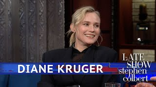 Diane Kruger's Latest Scene Partner Was A Tennis Ball