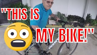 Crazy Old Man Tries To Steal My Bike Again