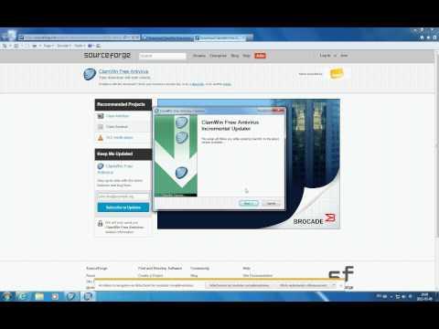Mise à jour de l'antivirus gratuit Clamwin