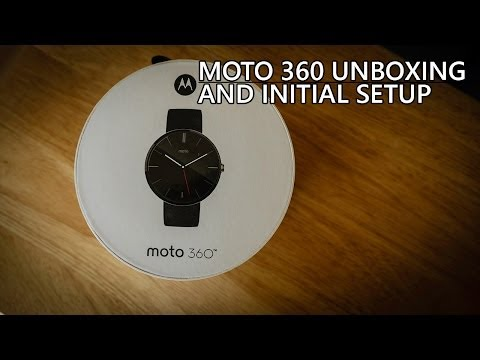 Moto 360 Unboxing and Initial Setup