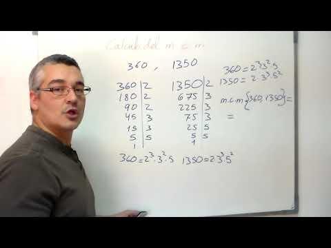 Calcular el mínimo común múltiplo. m.c.m. Aprende matemáticas.