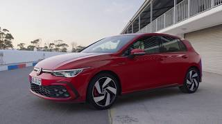 New VW Golf 8 GTI (2020) - EXHAUST & engine sound, GTI digital cockpit & crazy AMBIENT LIGHTS