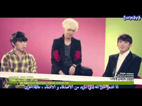 Arabic sub - super junior interview with LOTTE DUTY FREE 2