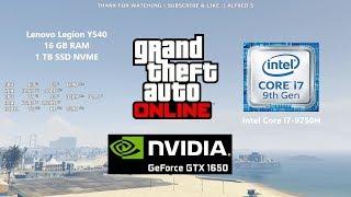 GTA 5 Online Gameplay | GeForce GTX 1650 | Intel Core i7-9750H | Lenovo Legion Y540 | 1080p HD