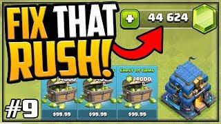 44,000 GEMS! GEM, MAX, Fix That Rush - Clash of Clans - Episode 9