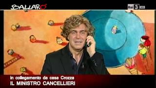 Ballarò :  MAURIZIO CROZZA 05/11/2013 - Il Ministro Cancellieri in collegamento da casa Crozza