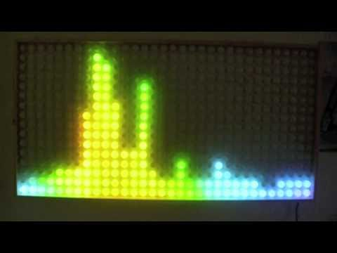 32x16 RGB LED Matrix Ping Pong Ball - Plasma Wall
