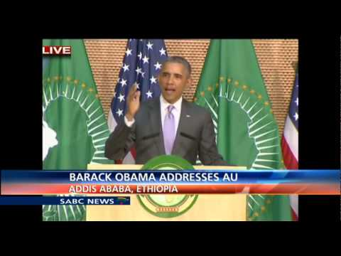 Barack Obama addresses the African Union