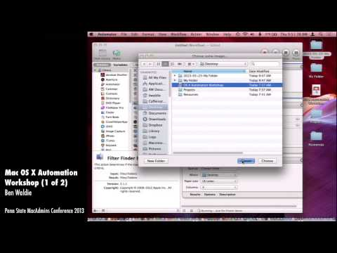 Mac OS X Automation Workshop (1 of 2) - Ben Waldie