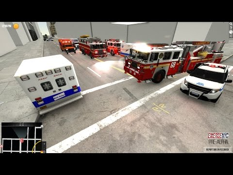 EmergeNYC Tech Demo|Role Playing A EMS Call,Ambulance Accident & Report Of Fire|FDNY & NYPD Gameplay