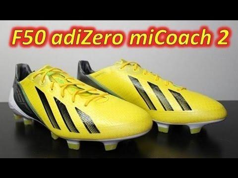 Adidas F50 adizero miCoach 2 Vivid Yellow/Black/Green Zest - Unboxing & On Feet