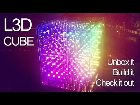 L3D CUBE. 3D RGB LED Animated light display. 8X8X8 version