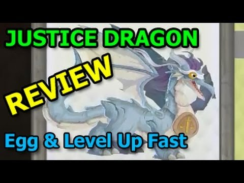 JUSTICE DRAGON Dragon City Egg and Level Up Review