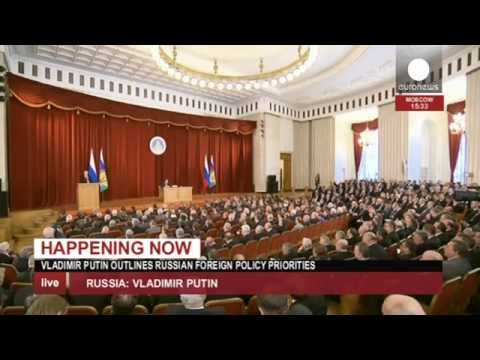 Putin unveils new Russian foreign policy (live recorded feed)