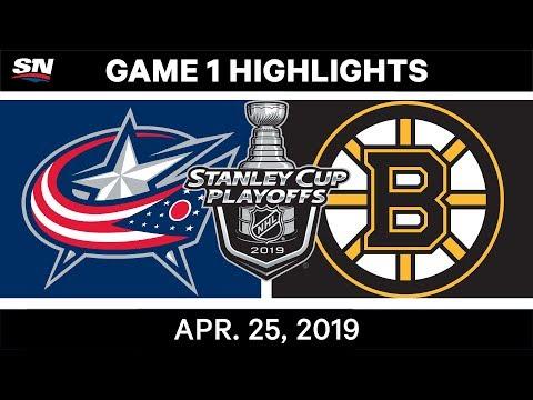 NHL Highlights | Bruins Vs. Blue Jackets, Game 1 - April 25, 2019