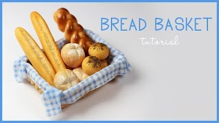 polymer clay Bread Basket TUTORIAL | polymer clay food